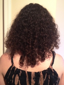 What my curls looked like after a VERY hot day at around 6pm
