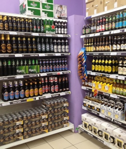 There were a couple gems like Leffe Brun and Hoegaarden, both of which I'd happily drink at home, but Tiger and Carlsberg seem to get the most attention around here