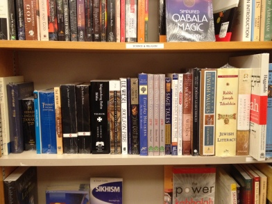 "Books about Judaism - note that ""science and religion"" are together in this section"