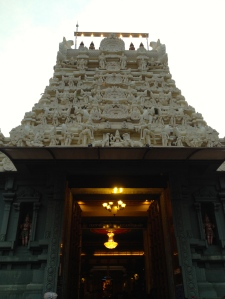 Hindu temple from the front entrance