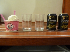 Ice cream + Guinness = Guinness float