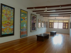 The third floor of the batik-painting museum