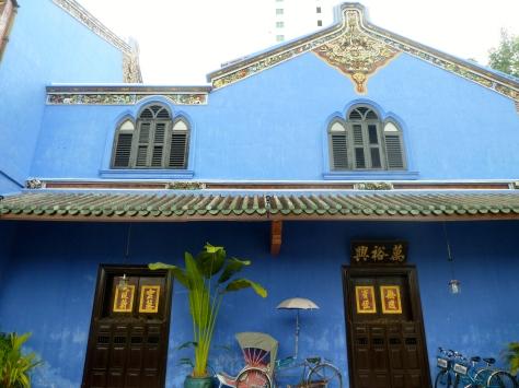 Cool Blue Mansion windows