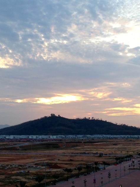 The sunrise early last week