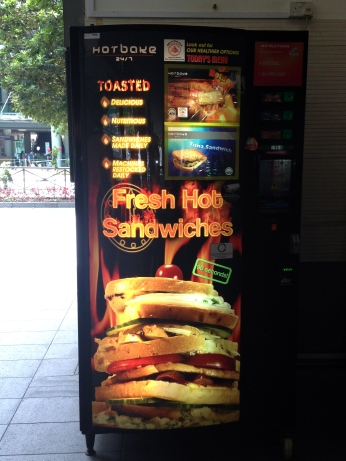 The sandwiches may be fresh and hot . . . someone will have to let me know because I'm not brave enough to find out!