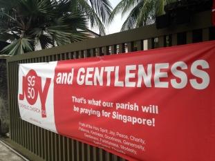 Outside a church near my apartment
