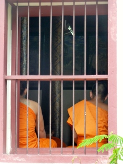 These monks were at prayer when I visited this temple, so I didn't go inside