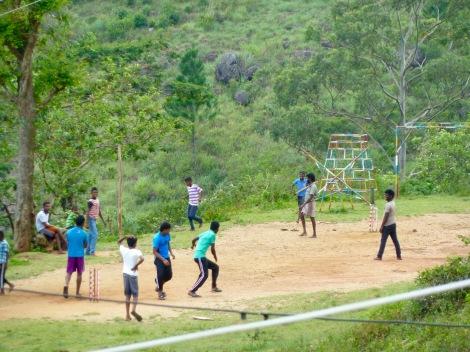 We saw groups of kids playing cricket all over Sri Lanka.