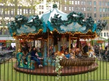 There's even a carousel! Another good reason to have kids: being able to ride a carousel.