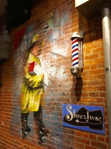 There actually was a shoeshine stand